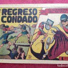 Tebeos: EL REGRESO AL CONDADO CON EL GUERRERO DEL ANTIFAZ . Nº 55. VALENCIANA . ORIGINAL. Lote 245121575
