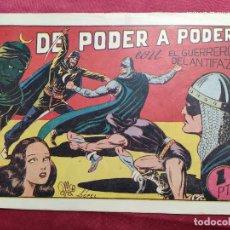 Tebeos: DE PODER A PODER CON EL GUERRERO DEL ANTIFAZ . Nº 57. VALENCIANA . ORIGINAL. Lote 245123965