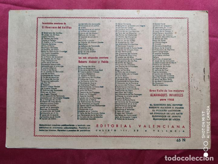 Tebeos: EL FIN DE UNA MISION CON EL GUERRERO DEL ANTIFAZ . Nº 63. VALENCIANA . ORIGINAL - Foto 2 - 245417825