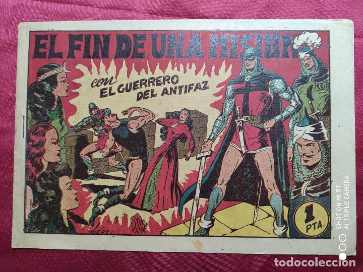 EL FIN DE UNA MISION CON EL GUERRERO DEL ANTIFAZ . Nº 63. VALENCIANA . ORIGINAL (Tebeos y Comics - Valenciana - Guerrero del Antifaz)