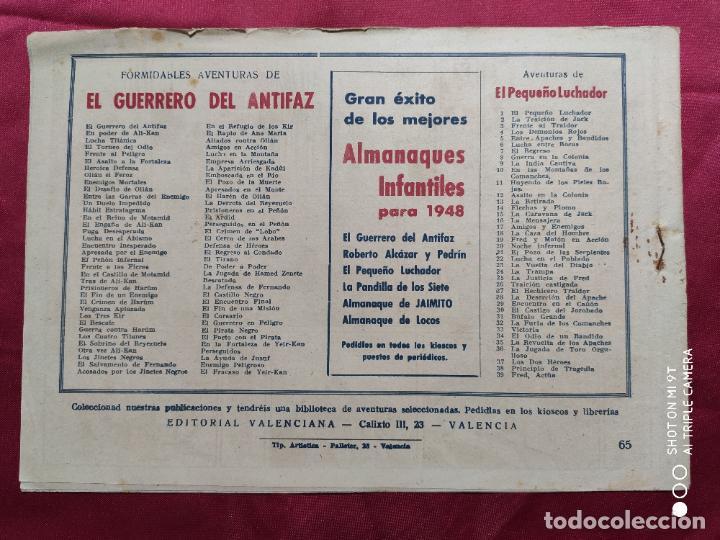 Tebeos: EL GUERRERO EN PELIGRO CON EL GUERRERO DEL ANTIFAZ . Nº 65. VALENCIANA . ORIGINAL - Foto 2 - 245419310