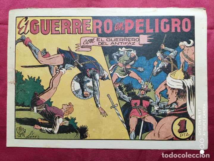 EL GUERRERO EN PELIGRO CON EL GUERRERO DEL ANTIFAZ . Nº 65. VALENCIANA . ORIGINAL (Tebeos y Comics - Valenciana - Guerrero del Antifaz)