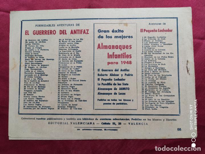 Tebeos: EL PIRATA NEGRO CON EL GUERRERO DEL ANTIFAZ . Nº 66. VALENCIANA . ORIGINAL - Foto 2 - 245452760