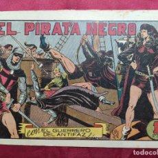 Tebeos: EL PIRATA NEGRO CON EL GUERRERO DEL ANTIFAZ . Nº 66. VALENCIANA . ORIGINAL. Lote 245452760