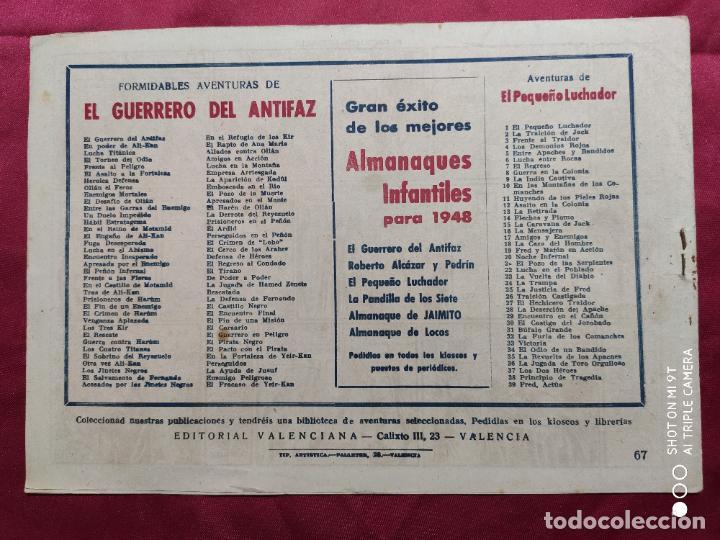 Tebeos: EL PACTO CON EL PIRATA CON EL GUERRERO DEL ANTIFAZ . Nº 67. VALENCIANA . ORIGINAL - Foto 2 - 245453770