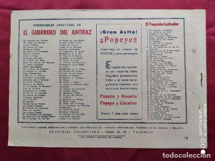 Tebeos: PERSEGUIDOS CON EL GUERRERO DEL ANTIFAZ . Nº 69. VALENCIANA . ORIGINAL - Foto 2 - 245490245
