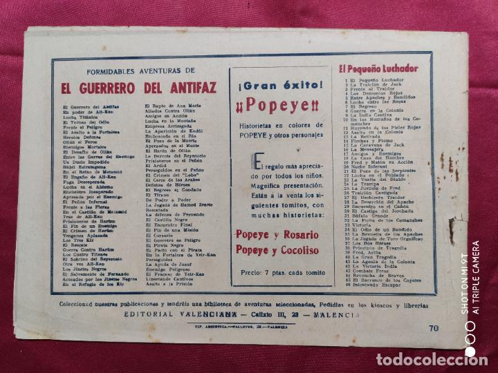Tebeos: LA AYUDA DE YUSUF CON EL GUERRERO DEL ANTIFAZ . Nº 70. VALENCIANA . ORIGINAL - Foto 2 - 245490480