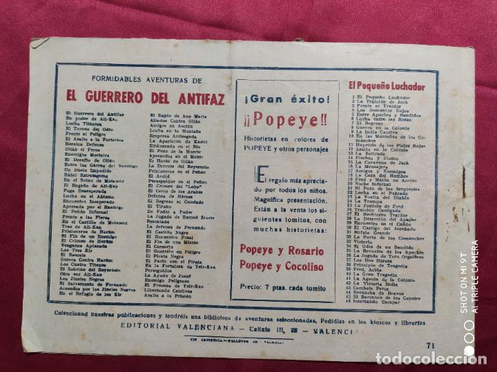 Tebeos: ENEMIGO PELIGROSO CON EL GUERRERO DEL ANTIFAZ . Nº 71. VALENCIANA . ORIGINAL - Foto 3 - 245491140