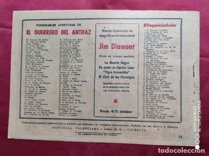 Tebeos: ASALTO A LA PRISIÓN CON EL GUERRERO DEL ANTIFAZ . Nº 74. VALENCIANA . ORIGINAL - Foto 2 - 245493260