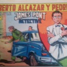 Tebeos: ROBERTO ALCAZAR Y PEDRIN. JAMES PONT DETECTIVE - Nº 872. EDITORA VALENCIANA. 1969. Lote 246554390