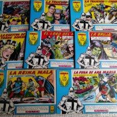 Tebeos: EL GUERRERO DEL ANTIFAZ HOMENAJE A MANUEL, LOTE 11 EJEMPLARES. Lote 55097265
