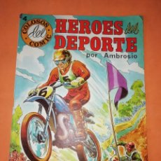 Tebeos: HEROES DEL DEPORTE. Nº 4 . POR AMBROSIO. EDITORIAL VALENCIANA 1984. Lote 251148410
