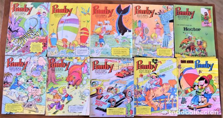 LOTE 9 EJEMPLARES PUMBY + GRAN ALBUM PUMBY Nº 11 - EDITORA VALENCIANA (Tebeos y Comics - Valenciana - Pumby)