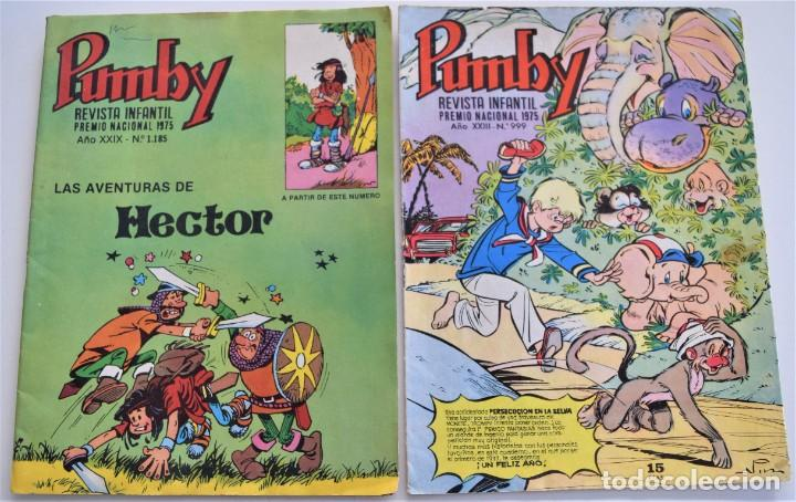 Tebeos: LOTE 9 EJEMPLARES PUMBY + GRAN ALBUM PUMBY Nº 11 - EDITORA VALENCIANA - Foto 4 - 251201045