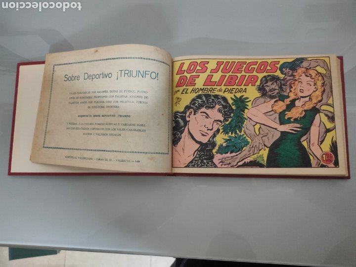 Tebeos: 25X PURK, EL HOMBRE DE PIEDRA VALENCIANA 1956-57 ORIGINAL VOL. ENCUADERNADO N° 149 A 173 - Foto 3 - 251549920
