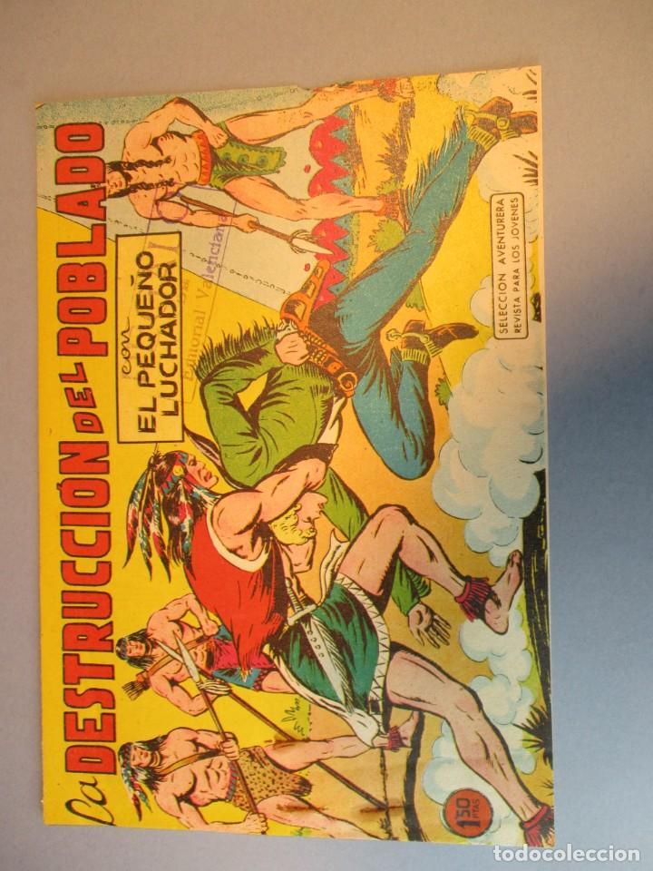 PEQUEÑO LUCHADOR, EL (1960, VALENCIANA) 75 · 29-III-1962 · LA DESTRUCCIÓN DEL POBLADO (Tebeos y Comics - Valenciana - Pequeño Luchador)