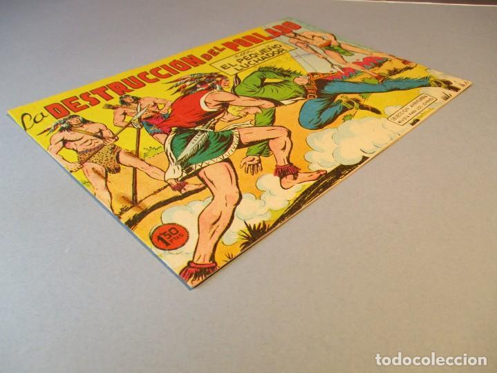 Tebeos: PEQUEÑO LUCHADOR, EL (1960, VALENCIANA) 75 · 29-III-1962 · LA DESTRUCCIÓN DEL POBLADO - Foto 2 - 251764835