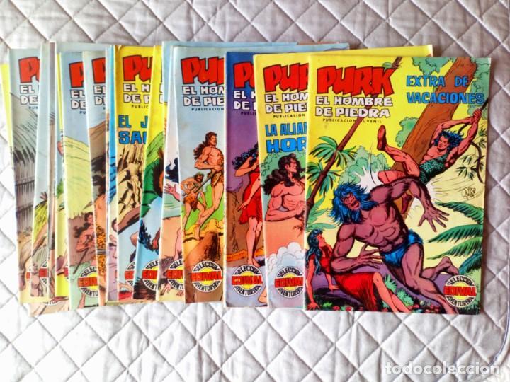 PURK EL HOMBRE DE PIEDRA LOTE 20 TEBEOS (Nº 31 AL 49 Y EXTRA VACACIONES) VALENCIANA (Tebeos y Comics - Valenciana - Purk, el Hombre de Piedra)