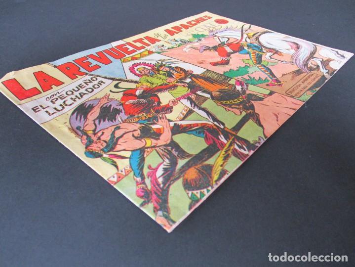 Tebeos: PEQUEÑO LUCHADOR, EL (1960, VALENCIANA) 49 · 28-IX-1961 · LA REVUELTA DE LOS APACHES - Foto 2 - 252579090