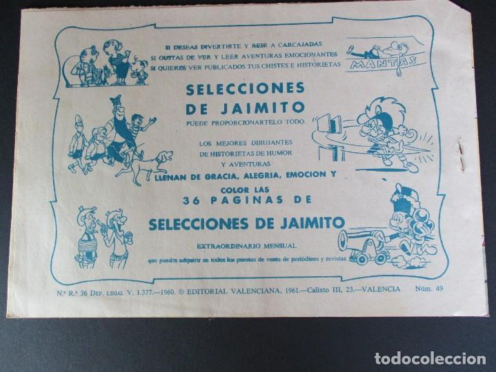 Tebeos: PEQUEÑO LUCHADOR, EL (1960, VALENCIANA) 49 · 28-IX-1961 · LA REVUELTA DE LOS APACHES - Foto 3 - 252579090