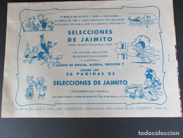 Tebeos: PEQUEÑO LUCHADOR, EL (1960, VALENCIANA) 53 · 26-X-1961 · FRED ACTÚA - Foto 3 - 252638990