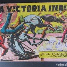 Tebeos: PEQUEÑO LUCHADOR, EL (1960, VALENCIANA) 56 · 16-XI-1961 · LA VICTORIA INDIA. Lote 252649150