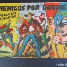 Tebeos: PEQUEÑO LUCHADOR, EL (1960, VALENCIANA) 70 · 22-II-1962 · ENEMIGOS POR DOQUIER. Lote 252681605