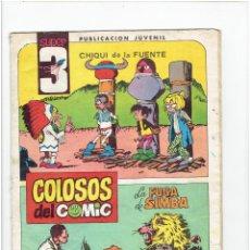 Tebeos: * SUPER 3 - Nº 8 * COLOSOS DEL CÓMIC * CHIQUI DE LA FUENTE * AMBRÓS * ED. VALENCIANA 1983 *. Lote 252937555