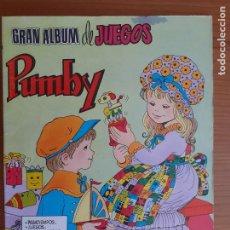 Tebeos: IMPECABLE! GRAN ALBUM DE JUEGOS PUMBY Nº 1. VALENCIANA 1980. EXCELENTE ESTADO. Lote 253534135