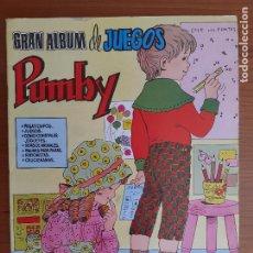 Tebeos: IMPECABLE! GRAN ALBUM DE JUEGOS PUMBY Nº 3. VALENCIANA 1980. EXCELENTE ESTADO. Lote 253534720