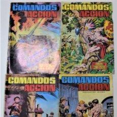 Tebeos: COMANDOS EN ACCIÓN Nº 26, 33, 39 Y 46 - EDITORA VALENCIANA 1981. Lote 253663205