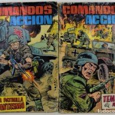 Tebeos: LOTE 2 TEBEOS COLECCIÓN COMANDOS EN ACCIÓN Nº 1 Y 2 - EDITORA VALENCIANA. Lote 253842365