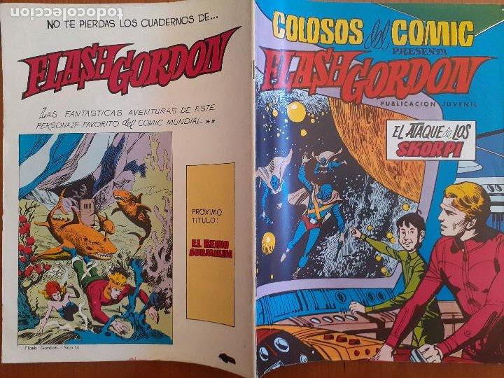 Tebeos: Colosos del Comic. Flash Gordon Nº 14. El ataque de los Skorpi. Valenciana 1980. Bueno - Foto 2 - 253893905
