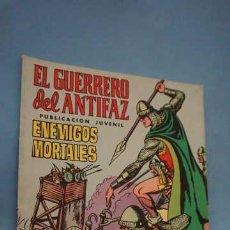 Tebeos: EL GUERRERO DEL ANTIFAZ, ENEMIGOS MORTALES, NUMERO 6, EDITORIAL VALENCIANA. Lote 254066415