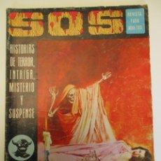 Tebeos: SOS (1975, EDIVAL) 15 · 6-IX-1975 · S O S. HISTORIAS DE TERROR, INTRIGA, MISTERIO Y SUSPENSE. Lote 254268970