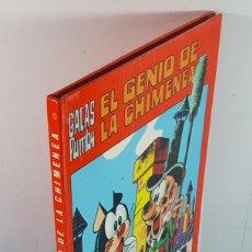 Tebeos: EL GENIO DE LA CHIMENEA, GALAS PUMBY EDITORIAL VALENCIANA 1973 TAPA DURA. Lote 254344860