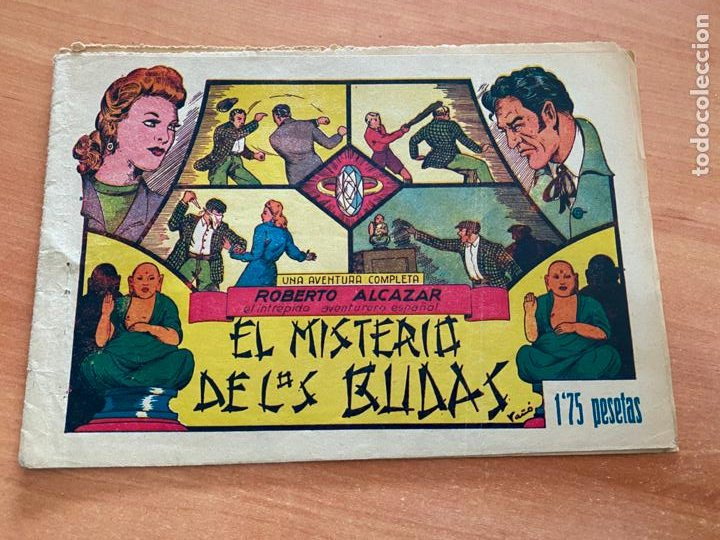 ROBERTO ALCAZAR Y PEDRIN Nº 60 EL MISTERIO DE LOS BUDAS (VALENCIANA) ORIGINAL (COIB9) (Tebeos y Comics - Valenciana - Roberto Alcázar y Pedrín)