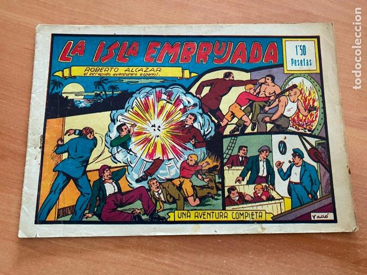 ROBERTO ALCAZAR Y PEDRIN Nº 45 LA ISLA EMBRUJADA (VALENCIANA) ORIGINAL (COIB9) (Tebeos y Comics - Valenciana - Roberto Alcázar y Pedrín)