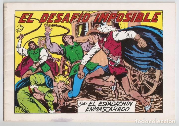 EL ESPADACHÍN ENMASCARADO. EL DESAFÍO IMPOSIBLE. Nº 59. 2ª EDICIÓN. 1982. COMIC (Tebeos y Comics - Valenciana - Espadachín Enmascarado)