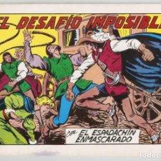 Tebeos: EL ESPADACHÍN ENMASCARADO. EL DESAFÍO IMPOSIBLE. Nº 59. 2ª EDICIÓN. 1982. COMIC. Lote 254558015