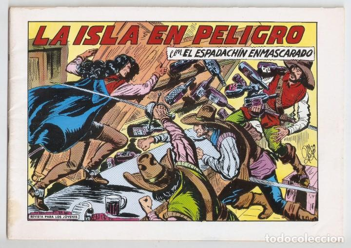 EL ESPADACHÍN ENMASCARADO. LA ISLA EN PELIGRO. Nº 82. 2ª EDICIÓN.COMIC (Tebeos y Comics - Valenciana - Espadachín Enmascarado)