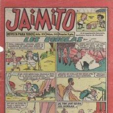 Tebeos: JAIMITO-SEMANAL- Nº 545 -PALOP-KARPA-SANCHIS-CARBÓ-NIN-1960-CORRECTO-MUY DIFÍCIL-LEA-4574. Lote 254729260