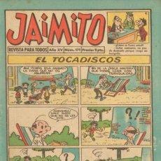 Tebeos: JAIMITO-SEMANAL- Nº 579 -PALOP-KARPA-SANCHIS-CARBÓ-NIN-ROBERTO ALCÁZAR-1960-BUENO-DIFÍCIL-LEA-4575. Lote 254731975