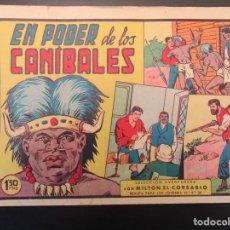 Livros de Banda Desenhada: MILTON EL CORSARIO (1956, VALENCIANA) 44 · 14-XI-1957 · EN PODER DE LOS CANIBALES. Lote 254759250