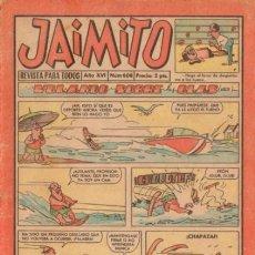 Tebeos: JAIMITO-SEMANAL- Nº 608 -PALOP-KARPA-SANCHIS-CARBÓ-NIN-1961-REGULAR-DIFÍCIL-LEA-4576. Lote 254784585