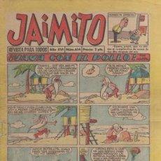Tebeos: JAIMITO-SEMANAL- Nº 614 -PALOP-KARPA-SANCHIS-CARBÓ-NIN-1961-CASI BUENO-DIFÍCIL-LEA-4577. Lote 254787730