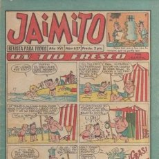 Tebeos: JAIMITO-SEMANAL- Nº 627 -PALOP-KARPA-SANCHIS-CARBÓ-NIN-1961-CASI BUENO-DIFÍCIL-LEA-4578. Lote 254806485