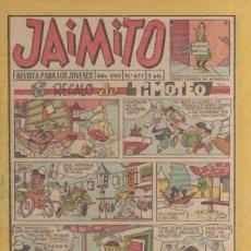 Tebeos: JAIMITO-SEMANAL- Nº 677 -PALOP-KARPA-SANCHIS-CARBÓ-NIN-1962-CASI BUENO-DIFÍCIL-LEA-4579. Lote 254808640
