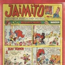 Tebeos: JAIMITO-SEMANAL- Nº 699 -PALOP-KARPA-SANCHIS-CARBÓ-NIN-1962-CASI BUENO-DIFÍCIL-LEA-4581. Lote 254812920