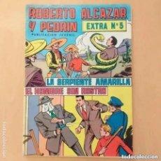 Tebeos: ROBERTO ALCAZAR Y PEDRIN - LA SERPIENTE AMARILLA + EL HOMBRE SIN ROSTRO. EXTRA NUM 5. Lote 255006890
